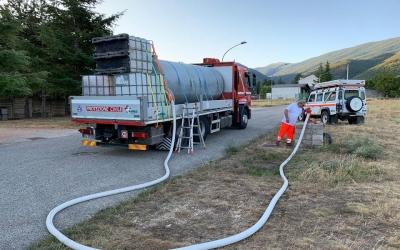 Rifornimento idrico al Rifugio Coppetello - Civita d'Antino