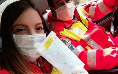 Consegna mascherine per conto del Comune di Civitella Roveto